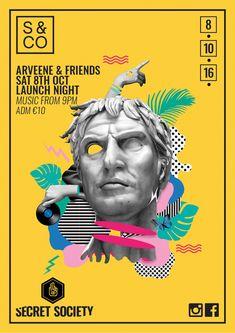Design poster event layout behance 47 Ideas for 2019 Poster Layout, Collage Poster, City Collage, Flyer Layout, Graphisches Design, Pattern Design, Logo Design, Layout Design, Poster Retro