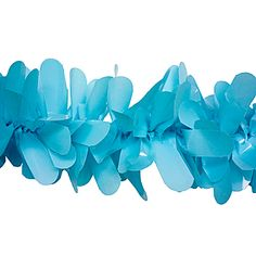 Add some flare to your parade float with Light Blue Vinyl Festooning Each roll of Light Blue Vinyl Festooning measures 4 inches x 48 feet.