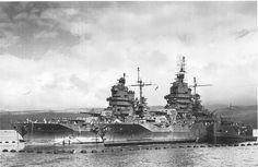 USS Idaho (left) and USS New Mexico, Pearl Harbor, 1943.