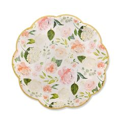 Add a stylish touch to your backyard party, or casual brunch with the Kate Aspen Floral Paper Plates. These plates are designed with a beautiful floral print and gold trim, these durable plates are sure to hold up for any event. Baby Shower Brunch, Floral Baby Shower, Baby Shower Parties, Shower Party, Brunch Con Champagne, Floral Paper Plates, Brunch Table Setting, Kate Aspen, Tea Party Birthday