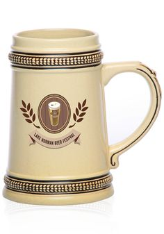 Personalized Ceramic Beer Steins Engraved or Custom Printed With Logos