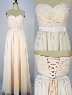 Custom Beach Sweetheart Floor-length Chiffon Sashes Long Prom/Evening/Party/Homecoming/Bridesmaid/Cocktail/Formal Dress 2013 New Arrival. $78.00, via Etsy.