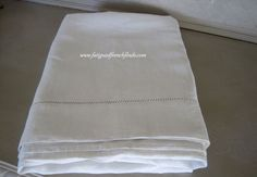 Antique French Pure Linen Sheet With Ladderwork Hem Large Size www.fatiguedfrenchfinds.com Linen Sheets, Bed Linen, Linen Bedding, French Bed, French Antiques, Pure Products, Unique Jewelry, Handmade Gifts, Etsy