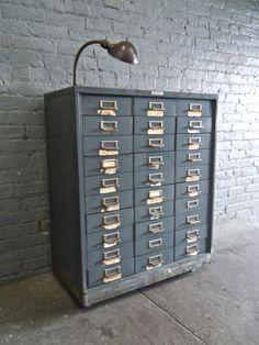 Vintage Industrial Steelmaster 30 Drawer by IndustrialArtifact ...