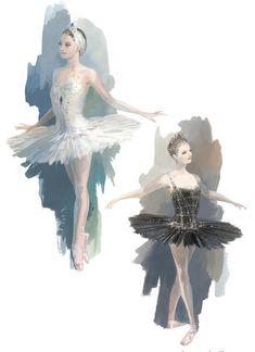 The new Swan Lake production by Boston Ballet. Costume designs by Robert Perdziola.