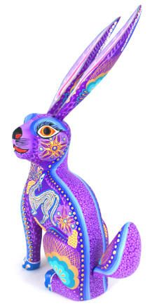 Purple Rabbit: Oaxacan Wood Carving
