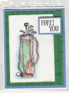 Fore! golf by Kerryann96818 - Cards and Paper Crafts at Splitcoaststampers