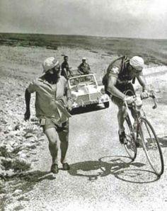 Ferdi Kubler.  Mt. Ventoux 1955