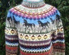 Islandsk strik med tölt heste