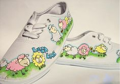 Lost Lamb by LOVELYart - SAShE.sk - Handmade Obuv Lace Painting, Keds, Lamb, Sneakers, Handmade, Shoes, Fashion, Tennis Sneakers, Hand Made
