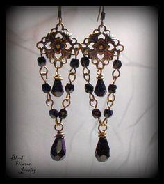 VALENTINA Antique Brass Gothic Victorian Filigree by BloodFlowers, $13.00