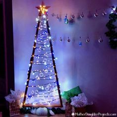 2x4 Christmas Tree With Concrete Base