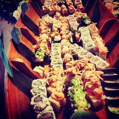 Sushi boat from Teak in Red Bank!