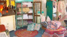 cupboards, quilts, cushions and mats...