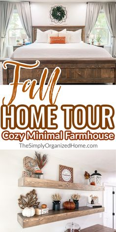 Come take a peek at our fall home tour! Our 2020 farmhouse style fall home tour is both cozy and minimal at the same time! Life Organization, Organizing, How To Use Planner, Farmhouse Style, Farmhouse Decor, Home Management, Autumn Home, Frugal Living, Declutter
