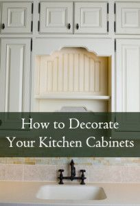 This is great to break up boring cabinets.