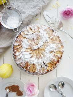 Spiced Apple Cake. - Pina Bresciani Dessert Dishes, Dessert Recipes, Cupcake Recipes, Dinner Recipes, Apple Recipes, Fall Recipes, Spiced Apples, Decadent Chocolate, Breakfast Cake