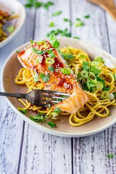 Lower Excess Fat Rooster Recipes That Basically Prime Serve This Oven Cooked Salmon Over A Bed Of Noodles Tossed With Lee Kum Kee Tomato And Garlic Sauce. Include A Quick Cucumber Salad And Have Dinner Ready In Less Than Half An Hour Best Seafood Recipes, Spicy Recipes, Fish Recipes, Beef Recipes, Chicken Recipes, Healthy Recipes, Fruit Recipes, Potato Recipes, Smoothie Recipes