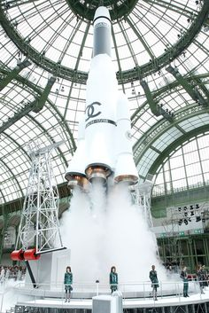 Chanel's fall/winter 2017 - complete with a life size rocket!