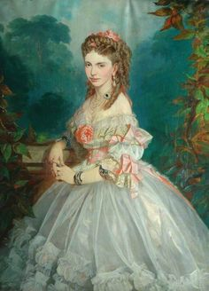 Norbert Schrödl (1842-1912) — Mrs Henry Butterfield, 1864 : Cliffe Castle Museum, Keighley, West Yorkshire. England (679x944)