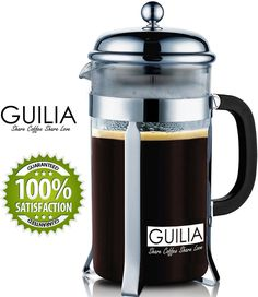 Classic French Coffee Press and Tea Maker 34OZ/8cup ** Click image to review more details.