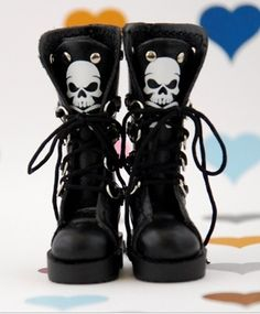 THIS IS BLYTHE - long skeleton tie boots (black)