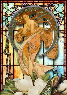 Art Nouveau Stained Glass by Terri Daugherty, via Flickr