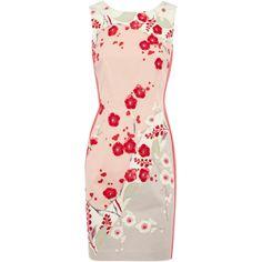 Oasis Oriental Print Dress ($51) ❤ liked on Polyvore
