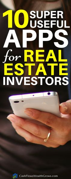 Top 10 Super Useful Apps for Real Estate Investors - Jim Pellerin - investment Real Estate Business, Real Estate Investor, Real Estate Tips, Real Estate Marketing, Investing In Real Estate, Commercial Real Estate Investing, Real Estate Sales, Income Property, Investment Property