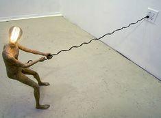 sculptuur-lamp-papier-mache