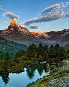Matterhorn, Swiss Alps...I skied all over this area...just beautiful.  Words cannot describe the beauty.