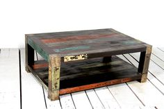 The Mary Rose Upcycled Coffee table, is crafted using wood reclaimed from boat timbers that are up to 150 years old. Each table is unique and will be a focal point in any living room. Reclaimed Wood Coffee Table, Reclaimed Furniture, Tree Furniture, Colorful Furniture, Furniture Ideas, Handmade Furniture, Upcycled Furniture, Large Coffee Tables, Into The Woods