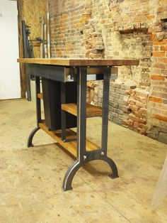 Industrial Crank Table | Industrial, French industrial and Desks