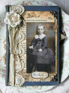 Searched Everywhere - picture only Altered Books Pages, Altered Book Art, Journal Covers, Art Journal Pages, Junk Journal, Book Covers, Vintage Crafts, Vintage Books, Heritage Scrapbooking