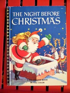 Vintage Golden Book The Night Before Christmas Big Golden Book Over Sized in Full Color 1950 Golden Press Christmas Children Book The Night Before Christmas, Christmas Past, Christmas Books, Vintage Christmas, Christmas Classics, Christmas Scenes, Christmas Cards, Christmas Decorations, My Childhood Memories