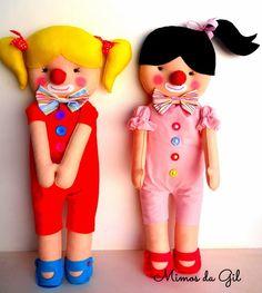 Para festa circo menina   Palhaças para decoração   Tamanho 70 cm