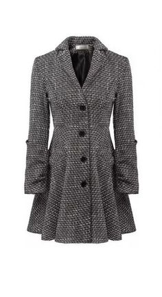 8e020a49683 Trendy Single Breasted Long Sleeve Turndown Collar Woman Coat Tweed Coat