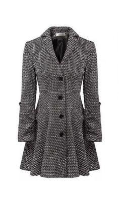 Trendy Single Breasted Long Sleeve Turndown Collar Woman Coat