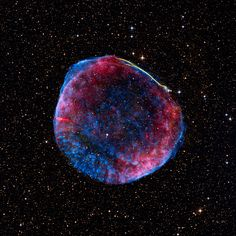SN 1006, a supernova remnant that lit up Earth's night skies in the year 1006 A.D. Located in the constellation Lupus, it is about 7,000 light-years from Earth.