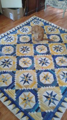 Mary H. Silver's quilt. Smith Mountain Falls pattern by Bonnie Hunter from her book Shirttails II.