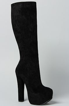 The Hot To Trot Boot in Black Suede by *Sole Boutique