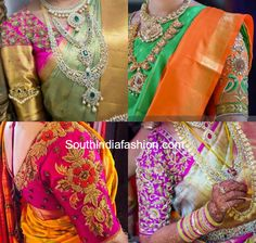 Blouse Designs for Wedding Silk Sarees photo