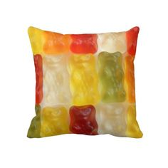 Shop gummy bear dreams throw pillow created by home_wizard. Personalize it with photos & text or purchase as is! Custom Pillows, Decorative Throw Pillows, Bear Decor, Pillow Reviews, Gummy Bears, Bedroom Themes, Designer Throw Pillows, Kids Gifts, Decorating Your Home