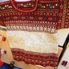Finnish Korsnas Sweater--absolutely amazing and so stunning but very difficult to make--knit and crochet