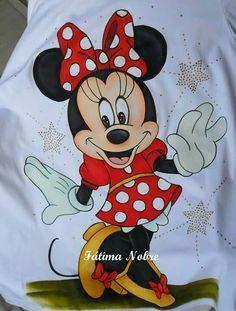 Fotos De Vilma Loaiza Em Pintura2   Riscos Para Pintura Tole Painting, Fabric Painting, Cartoon Drawing For Kids, Fabric Paint Shirt, Minnie Y Mickey Mouse, Disney Nursery, Cartoon Sketches, Disney Fun, Disney Drawings