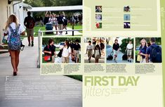Holy Trinity Episcopal High School // First Day Spread // full page dominant great social spread for first day freshman