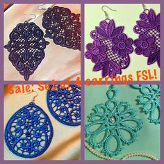 Machine Embroidery Design - a set of earrings fsl