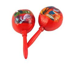 Vintage Style Mexican Maracas (assorted colors)