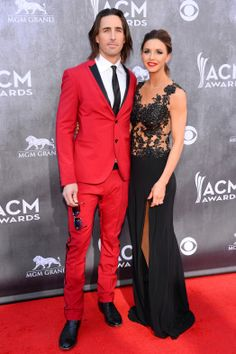 Lacey Buchanan's gown at the ACM Awards Red Carpet Arrival