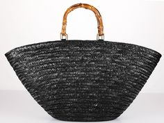 Capelli Straworld Purse Straw Bag Tote Medium Beaded Bamboo ...